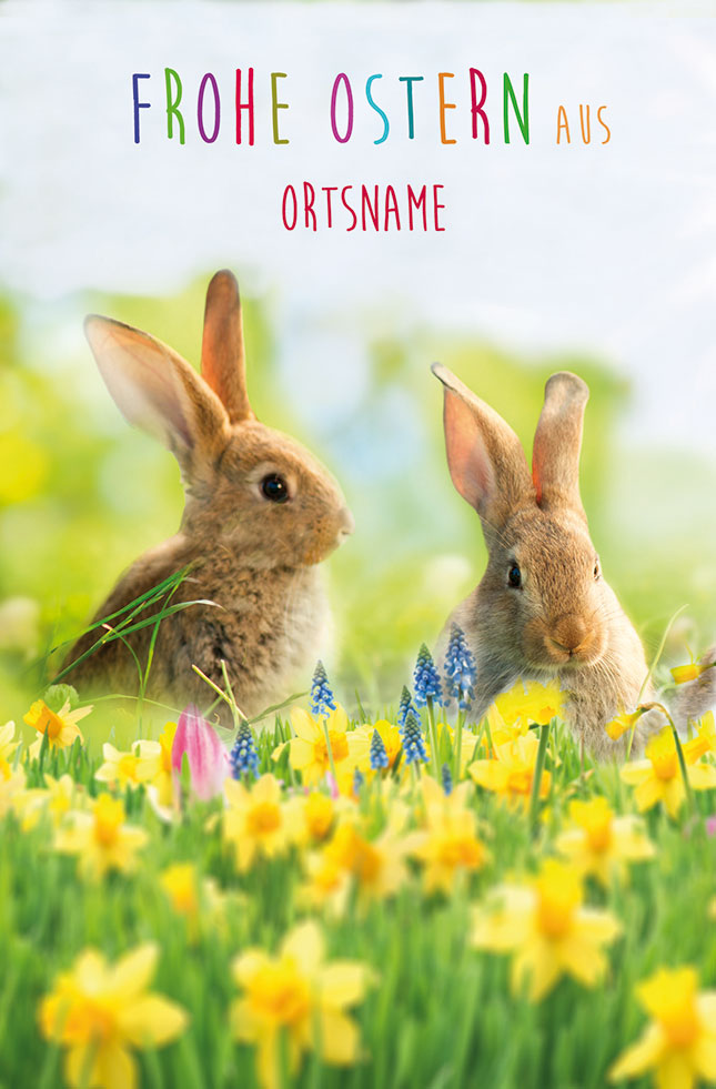 Frohe Ostern aus (Ortsname) Ostern  Ortsnamen LU 2060